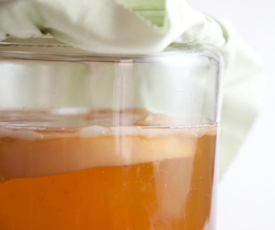 Kombucha Jar with SCOBY